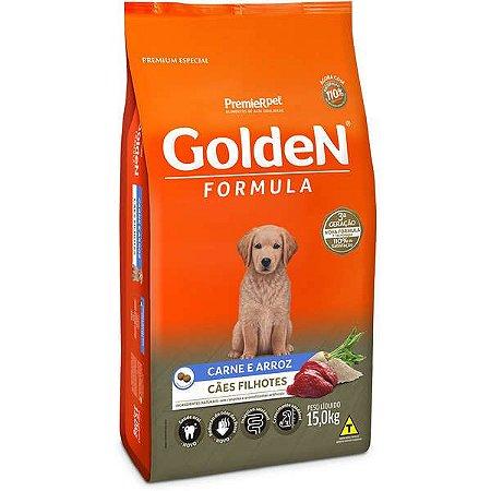 Ração Golden Cães Filhotes Carne e Arroz - 15kg