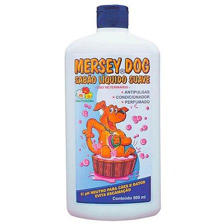Shampoo Mersey Dog Anti-Pulgas para Cães e Gatos 500ml