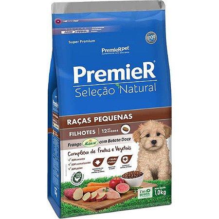 Ração Premier Seleção Natural Frango Korin com Batata Doce Cães Filhotes Raças Pequenas - 1kg