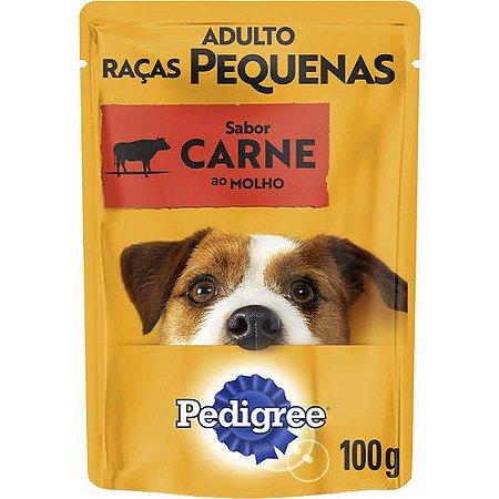 Pedigree Sachê Carne ao Molho Cães Adultos de Raças Pequenas