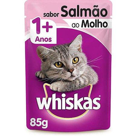 Whiskas Sachê Salmão ao Molho para Gatos Adultos