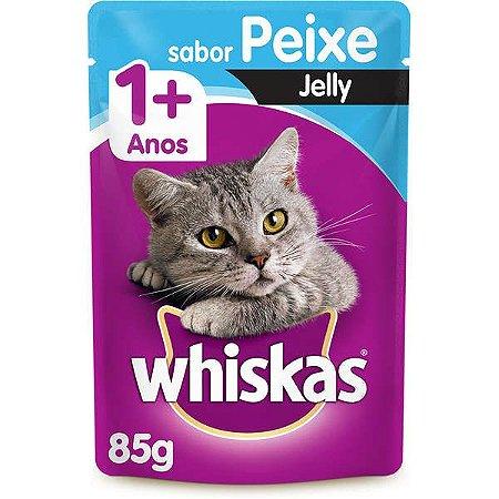 Whiskas Sachê Peixe Jelly para Gatos Adultos