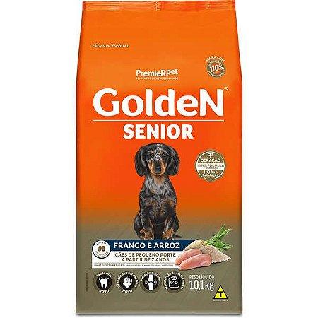 Ração Golden Cães Sênior Mini Bits Frango e Arroz