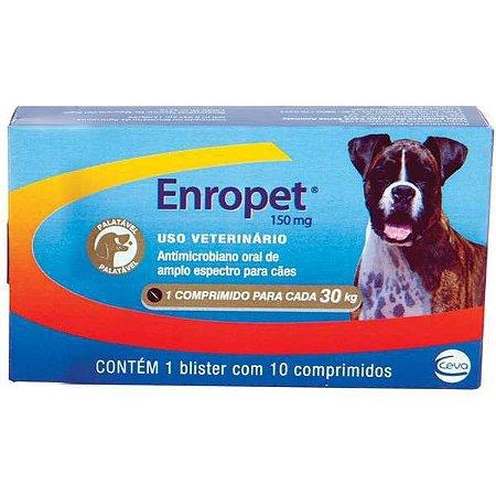Antibiótico Ceva Enropet - 10 Comprimidos