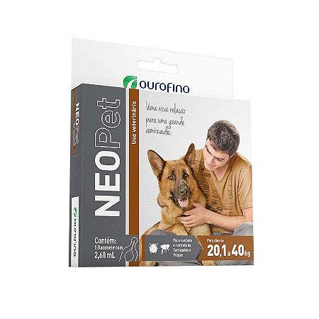Antipulgas e Carrapatos Neopet 2,68 mL para Cães de 20 á 40 kg