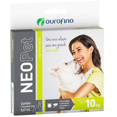 Antipulgas e Carrapatos Neopet 0,67mL para Cães até 10 kg