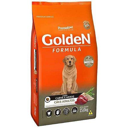 Ração Golden Carne e Arroz para Cães Adultos - 15kg