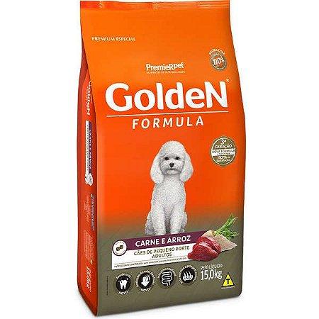 Ração Golden Carne e Arroz para Cães Adultos de Raça Pequena