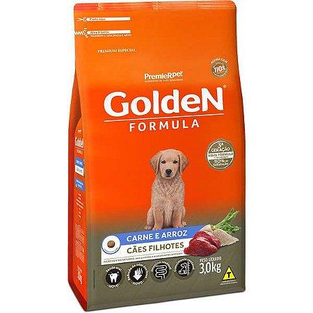 Ração Golden Cães Filhotes Carne e Arroz - 3kg