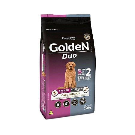 Ração Golden DUO Cães Adultos Salmão e Cordeiro - 15 kg