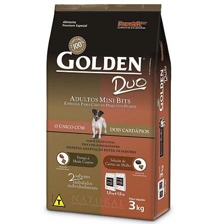 Ração Golden Duo Frango e Carne Mini Bits - 3kg