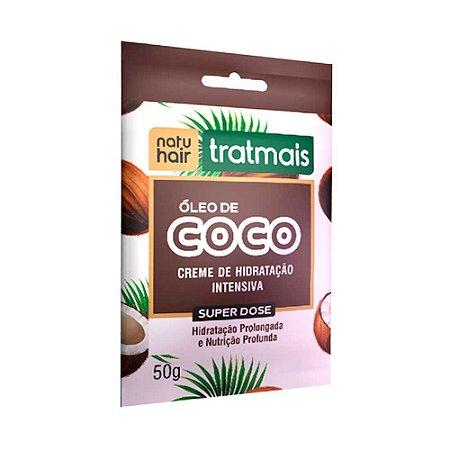 Sachê Super Dose Óleo de Coco TratMais - NatuHair 50g