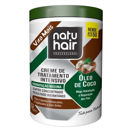Creme de Tratamento Intensivo Óleo de Coco NatuHair  1kg
