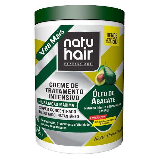 Creme de Tratamento Intensivo Óleo de Abacate Free NatuHair 1kg