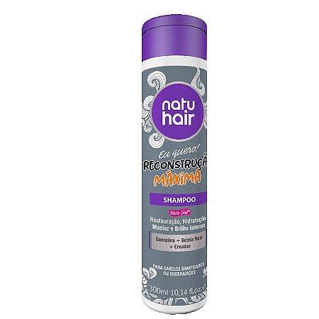 Shampoo Reconstrução Máxima Eu Quero! NatuHair 300ml