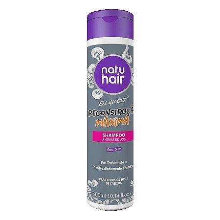Shampoo Antirresíduos Reconstrução Máxima Eu Quero! NatuHair 300ml