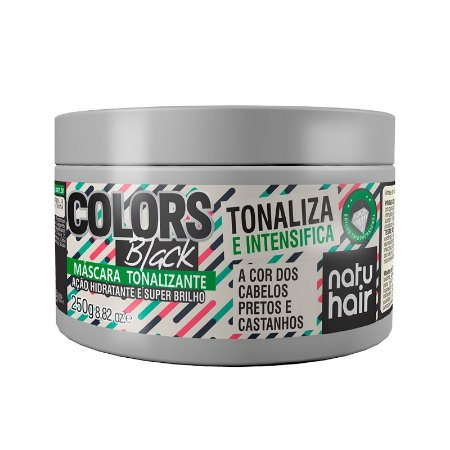 Máscara Tonalizante Colors Black NatuHair 250g