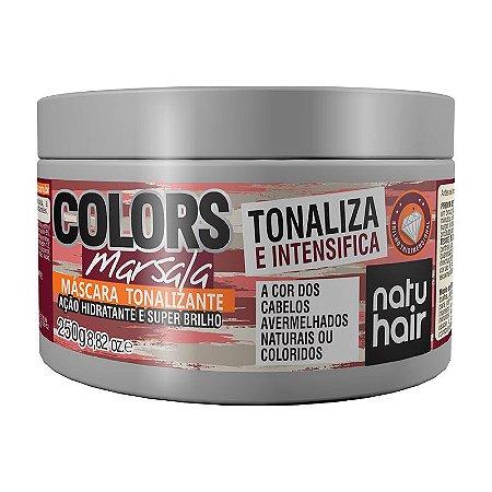 Máscara Tonalizante Colors Marsala NatuHair 250g