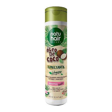 Shampoo Óleo de Coco Umectante Vegano NatuHair 300ml