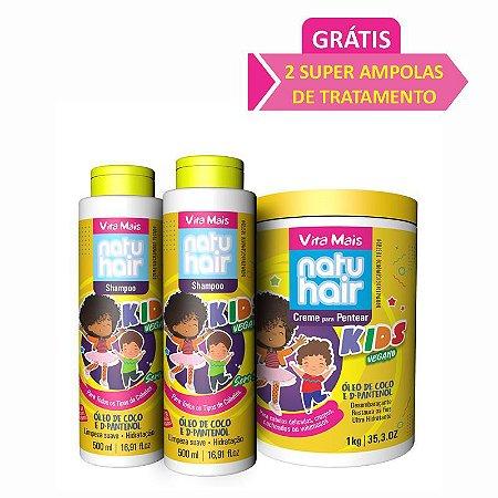Kit Kids Vegano Vita Mais NatuHair.