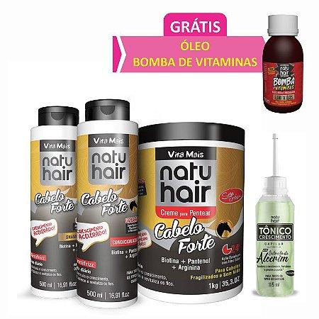 Kit Cabelo Forte Vita Mais Natuhair.