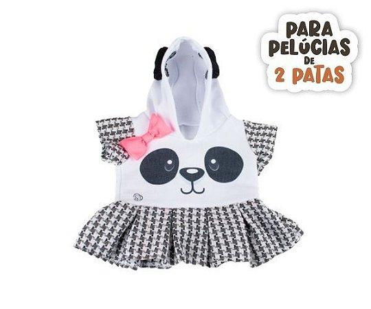 Vestido Moletom com Capuz Panda