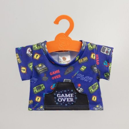 Camisa Azul Game Over Criamigos