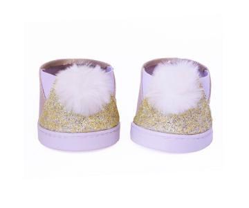 Sapato Pompom Dourado