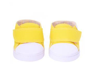 Tênis Jeans Amarelo Velcro