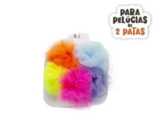 Mochila Rosa Pompons Neon