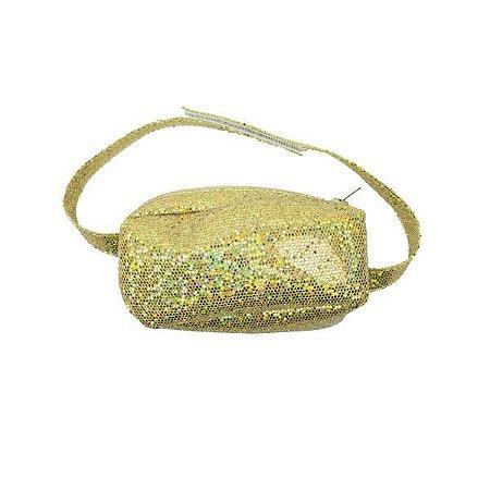 Pochete Glitter Dourado