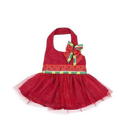 Vestido Vermelho Melancia
