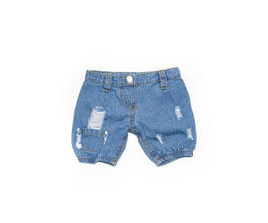 Calça Jeans com Elástico