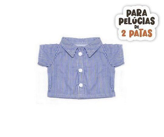Camisa Listrada Azul Marinho