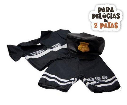 Conjunto Policial com Chapéu