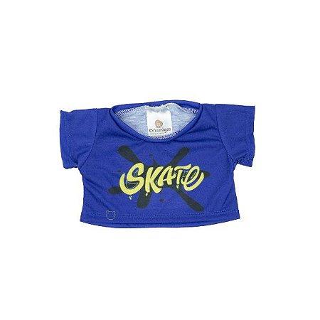 Camiseta Azul Skate