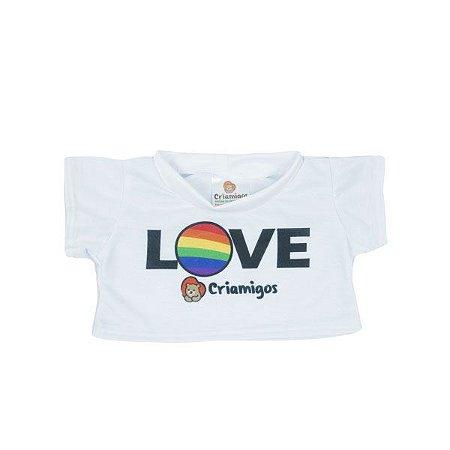 Camiseta Branca Love
