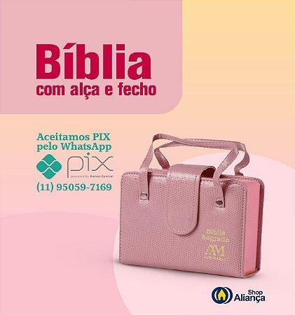 BIBLIA COM ALÇA - BOLSO - ROSA