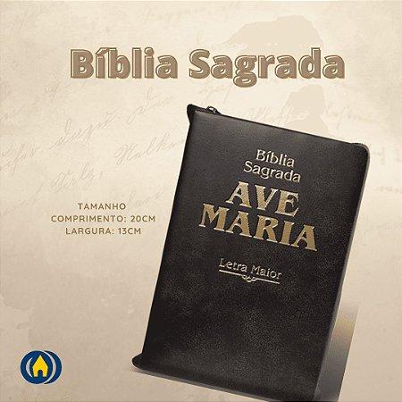 BIBLIA LETRA MAIOR ZIPER - MARRON