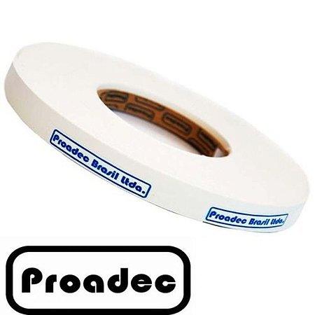 Fita de Borda PVC Branco Textura 22x0,40mm com 300 metros - PROADEC