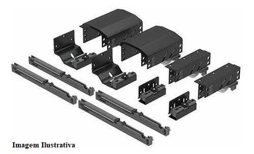Sistema de Porta de Correr Dominus com Amortecedor para 2 Portas 20 a 50Kg