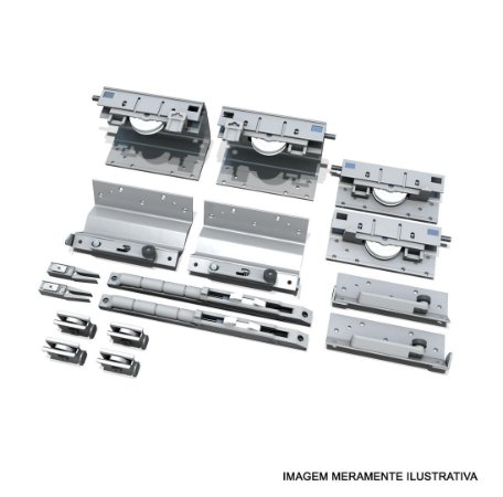 Sistema de Porta de Correr SS 200 Standard para 3 Portas 25 a 50Kg