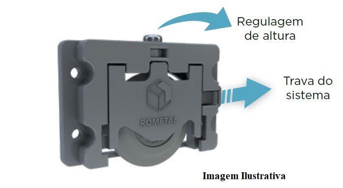 Sistema de Porta de Correr RO 63 com Guia 4025 para 1 Porta 60Kg