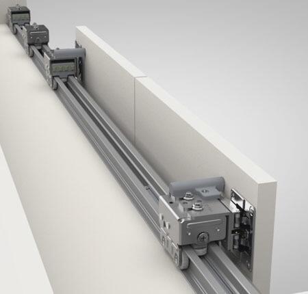 Kit Trilhos para Porta de Correr RM 269 e RM 270 Alumínio c/ 2m