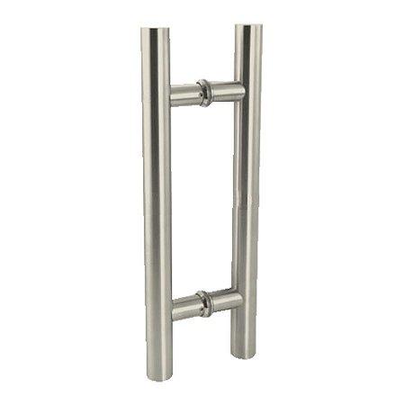 Puxador Duplo para Porta de Vidro ou Madeira DF907 Aço Inox 202 Escovado 600mm