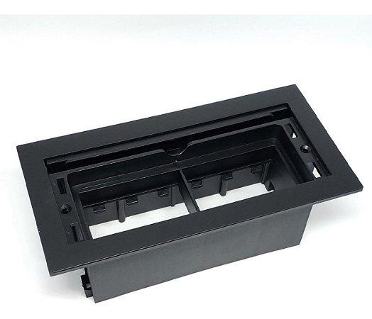 Caixa Facility Embalagem 6 Módulos S/ Bloco ABS Pintado Preto
