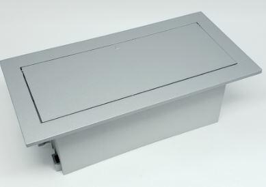 Caixa Facility Embalagem 6 Módulos S/ Bloco ABS Pintado Prata