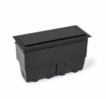 Caixa Openbox Alumínio Preto 8Bl 3 Blocos Elétricos 2B com 3 Blocos para RJ45Key