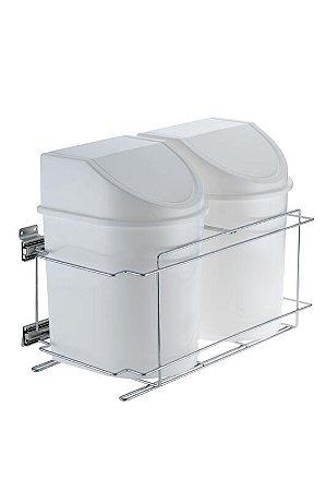 Lixeira Deslizante Dupla – 12 litros