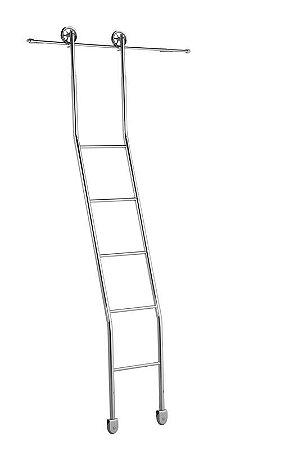 Escada Extensiva para Biblioteca 5 Degraus